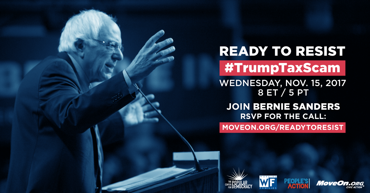 Join the Bernie Sanders' call this Wednesday