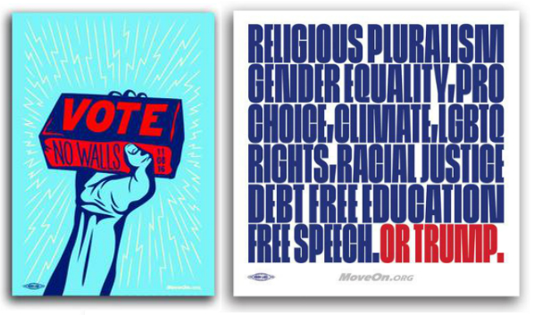 MoveOn election store stickers