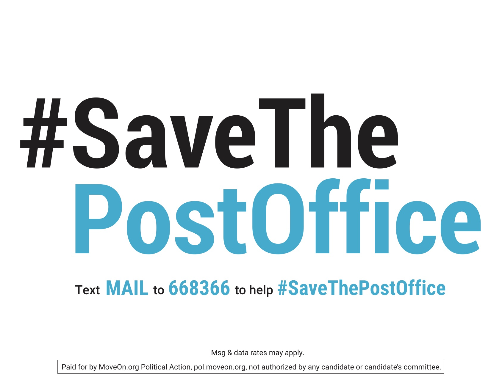 Save the post office sign
