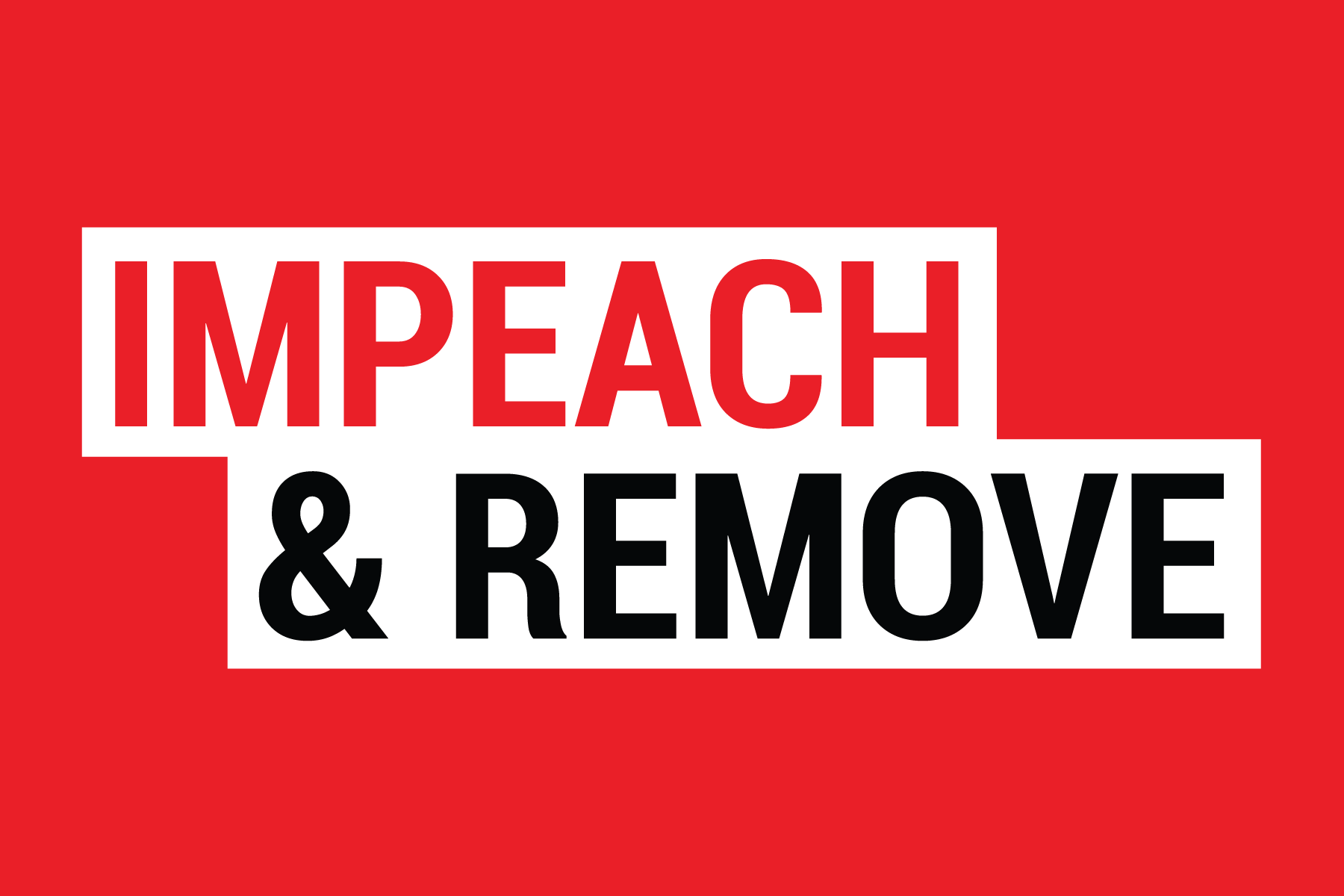 impeach and remove sign
