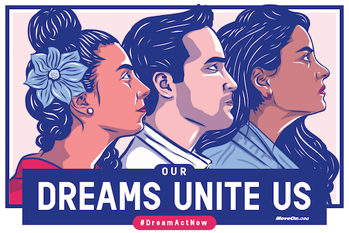 Get your FREE sticker to support the Dream Act