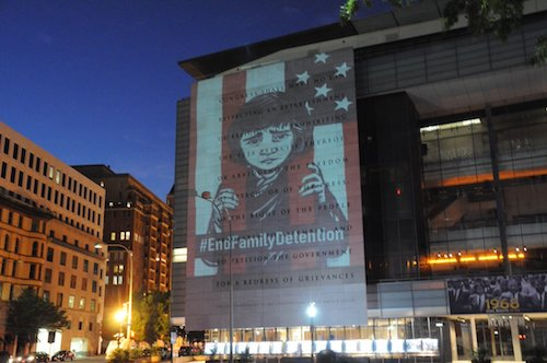 Projection on newseum