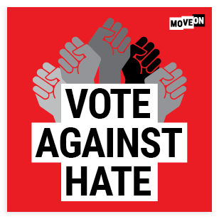 FREE Vote Against Hate Sticker...