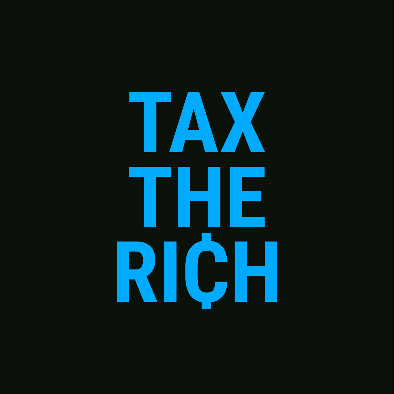"""Get your free """"Tax the Rich"""" sticker!"""
