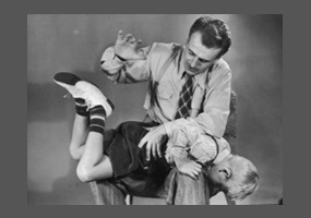 The Strict parents who spank necessary words