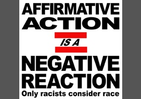 affirmative action reverse racism