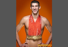 Michael Phelps breaks an Olympic record for the most gold