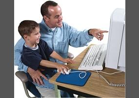 Parents monitoring internet use
