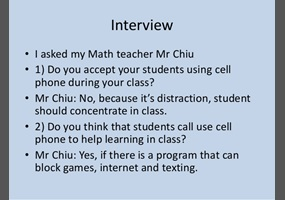 uses of cell phones for students