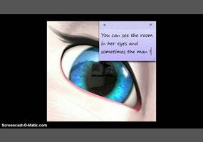 Talking angela is bad look at her eye!!   Debate org