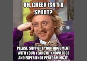 cheerleading is a sport argument