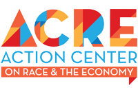 logo for the action center on race and the economy