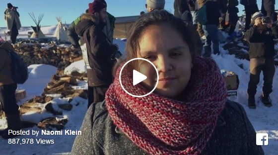 Naomi Klein video from Standing Rock
