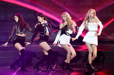 Girl group BlackPink performs on stage during the 8th Gaon Chart K-Pop Awards on January 23, 2019 in Seoul, South Korea