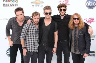 Las Vegas, NV- Musicians Drew Brown, Eddie Fisher, Ryan Tedder, Zach Filkins, and Brent Kutzle of One Republic arrive to the 2011 Billboard Music Awards in Las Vegas, Nevada.