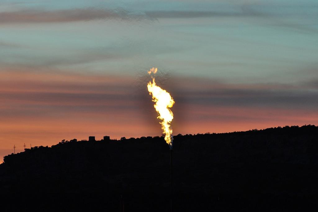 methane flaring oil gas