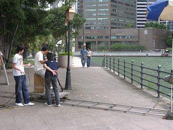 camera and actors