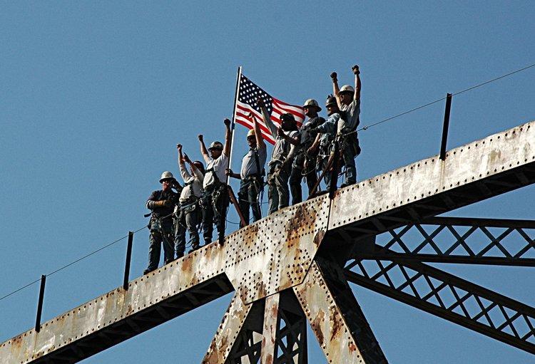 Unbuilding (demolition) of the Grace and Pearman Bridges in