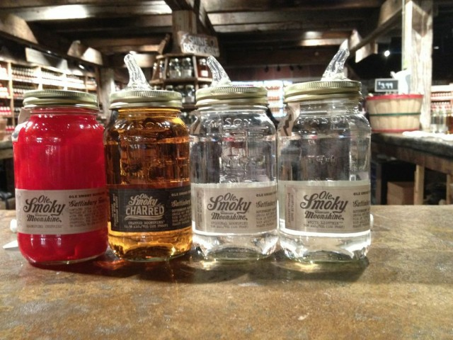 Free sample tastings of Charred Moonshine at The Holler!