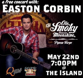 EASTON CORBIN ROCKED OLE SMOKY! CHECK OUT PICTURES HERE!