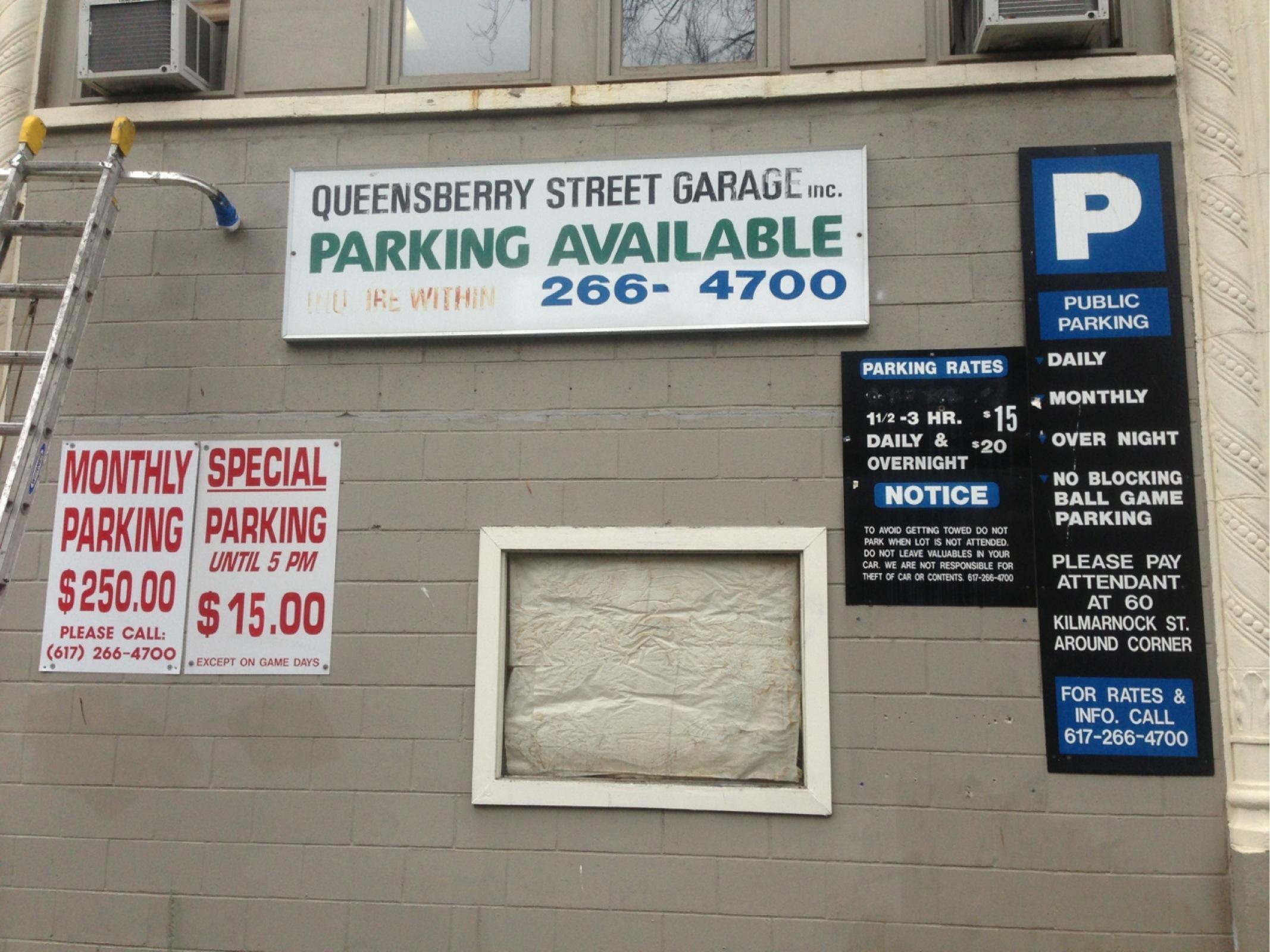 Queensberry Street Garage Parking In Boston Parkme