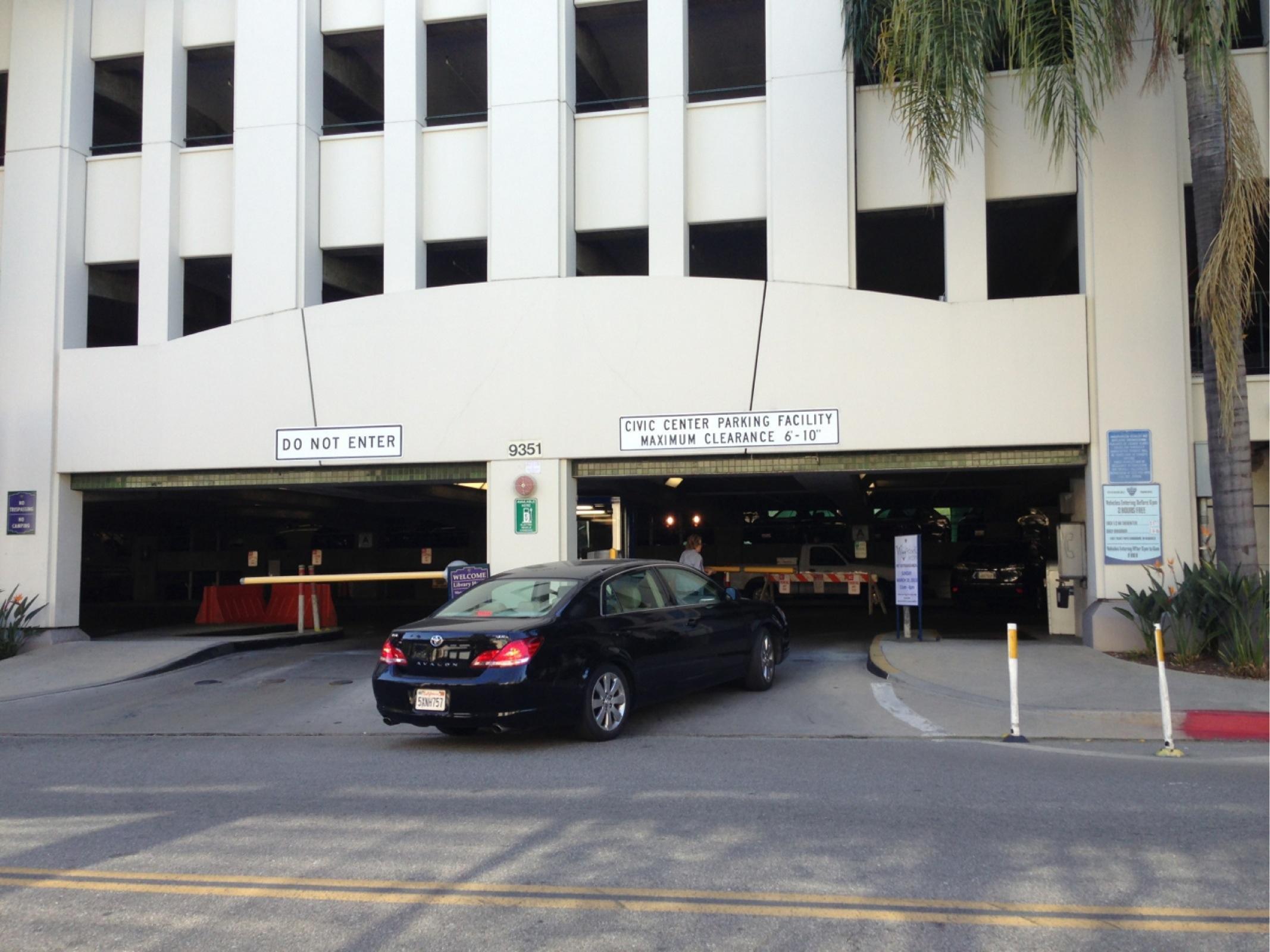 Civic Center Garage: 359 Civic Center Dr Garage - Parking In Beverly Hills