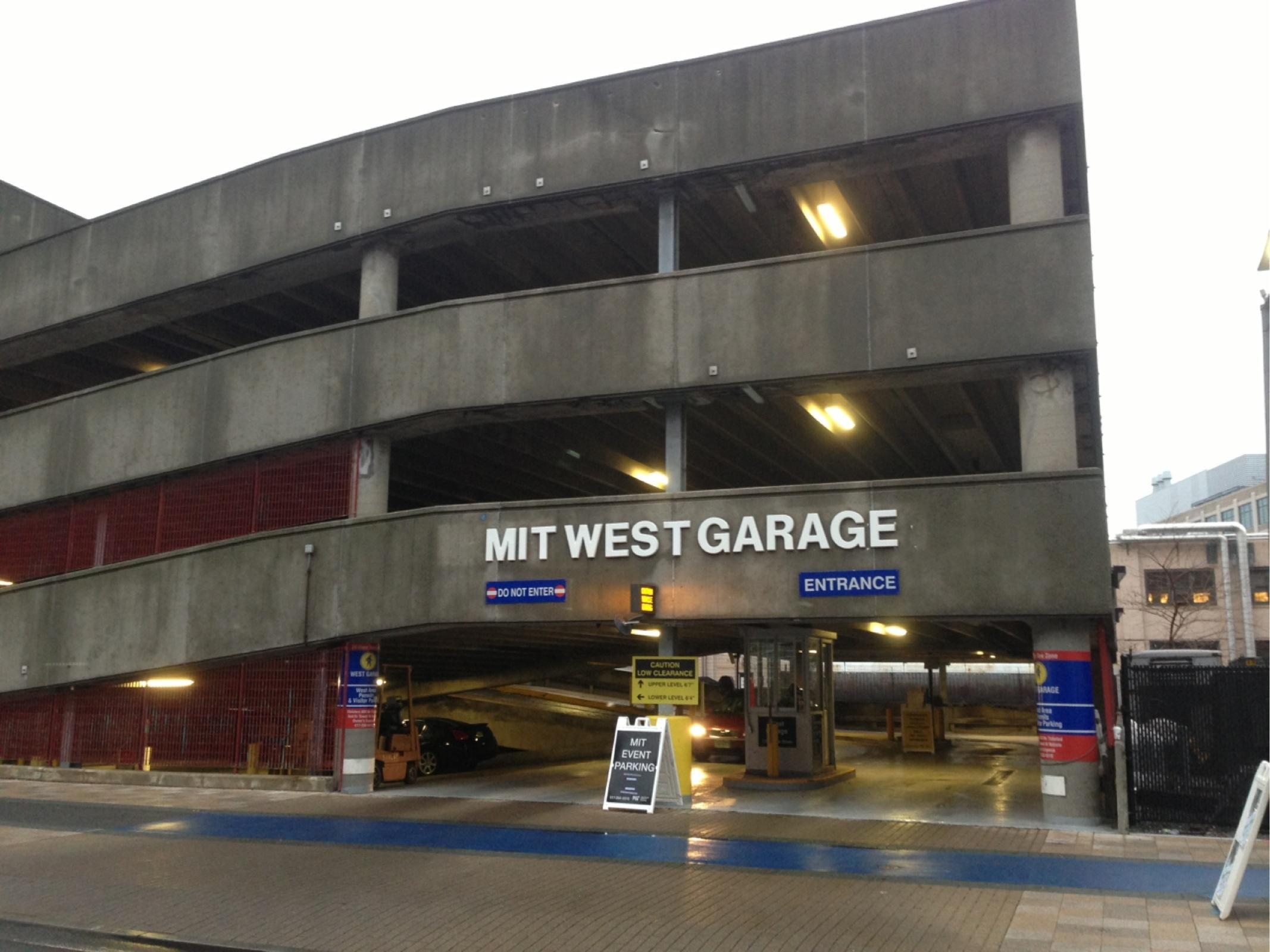 Mit west garage parking in cambridge parkme for Garage st prouant