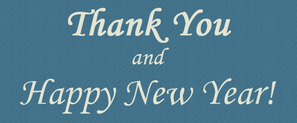 Thank you and happy new year!