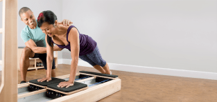 Woman working out on a CoreAlign