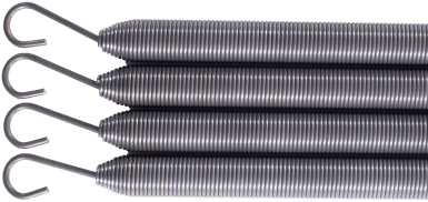 Photo of four stacked springs