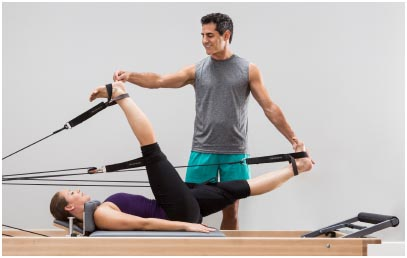 Photo of instructor and student using Konnector