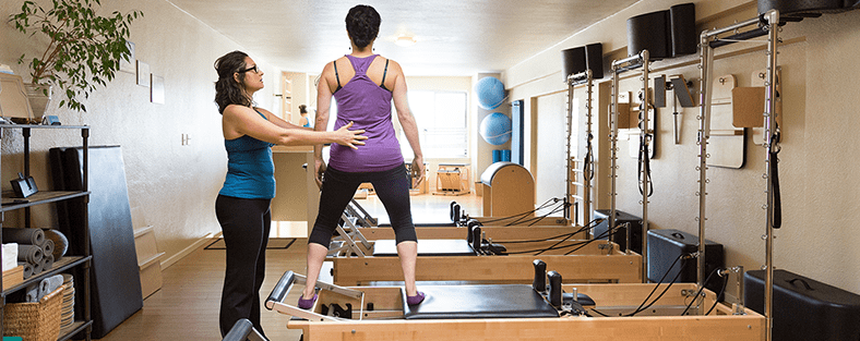 Trainer with student on a Reformer