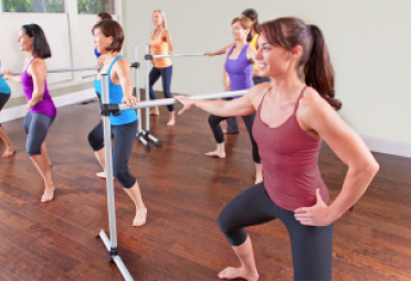 Students in Barre class