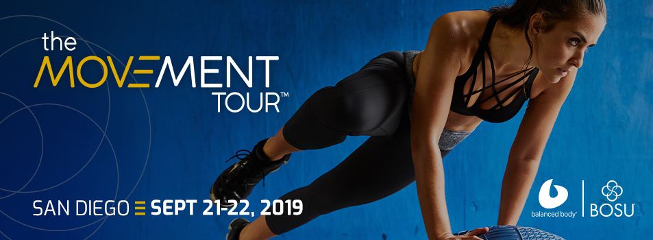 The Movmement Tour, San Diego, September 21-22, 2019, Sponsored by Balanced Body and BOSU