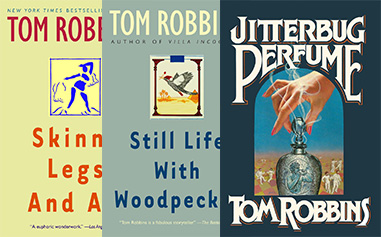 Tom Robbins book covers