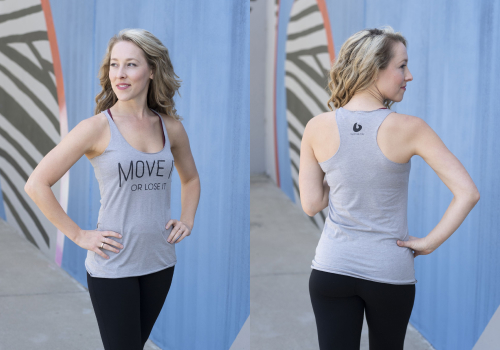 Move It or Lose It tank top model