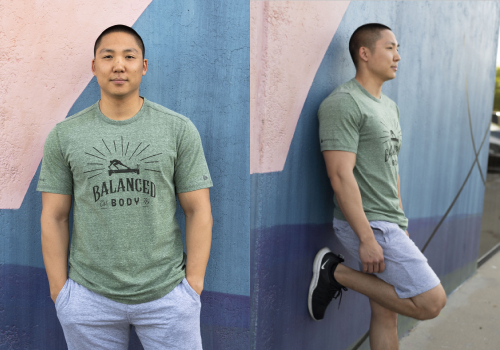 Balanced Body Vintage t-shirt model