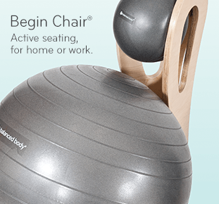 Begin Chair: Active seating on our ball chair, for home or work.