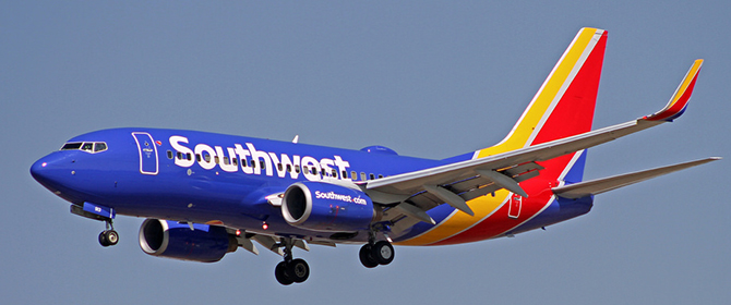 Southwest Airlines B737-700NG on Final Approach