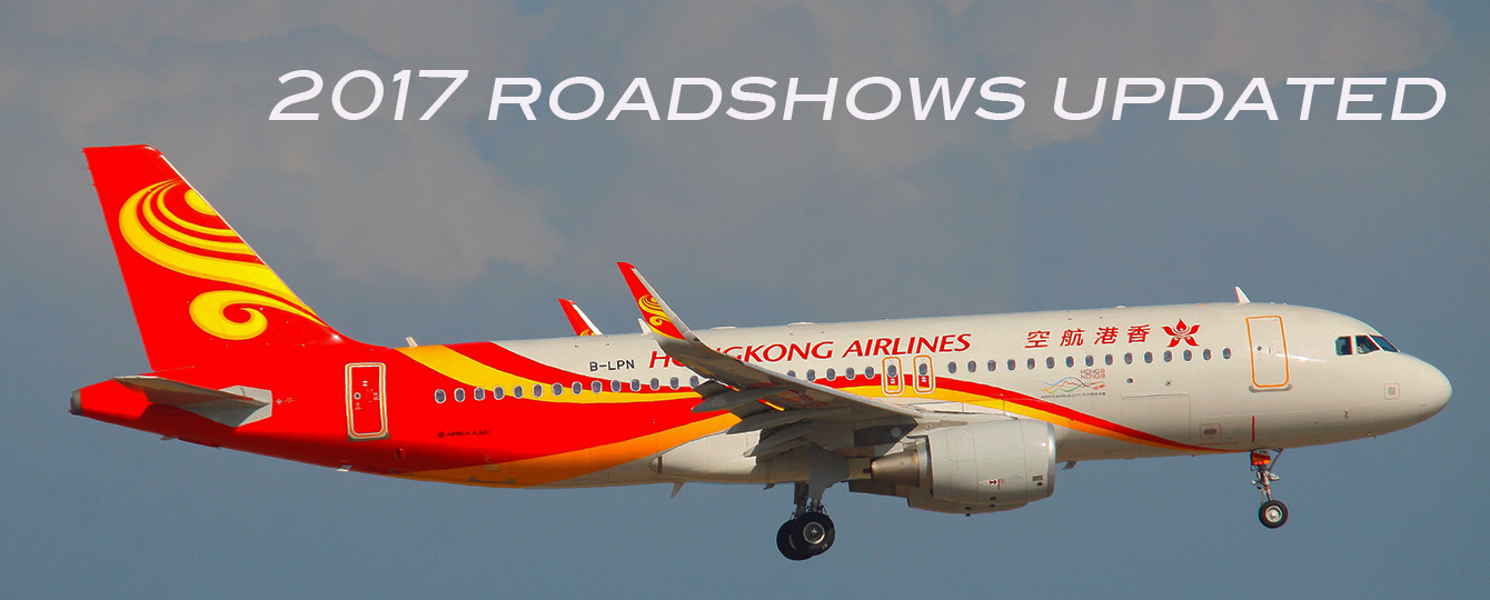 Hong Kong Airlines 2017 Roadshow Dates/Locations Updated!