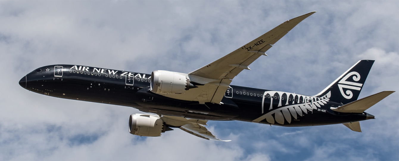 Air New Zealand All-Black Dreamliner on its way.
