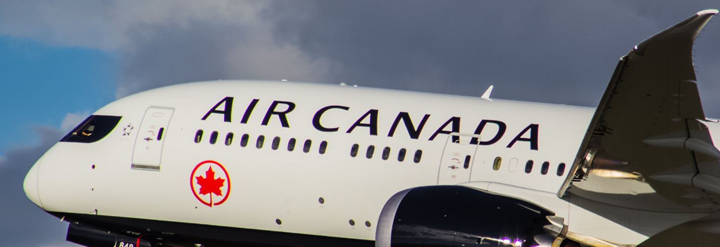 Air Canada B787-9 Dreamliner after take off.