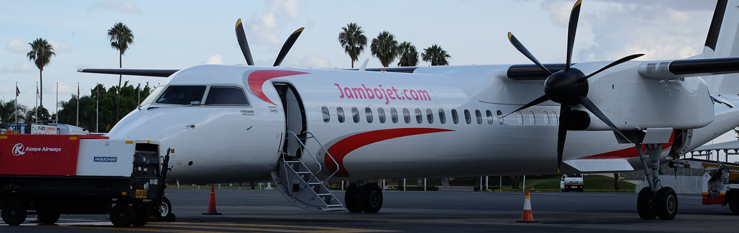 jambojet Q400 on the ramp