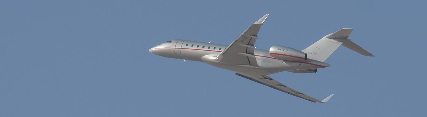 VistaJet Global on climb out.