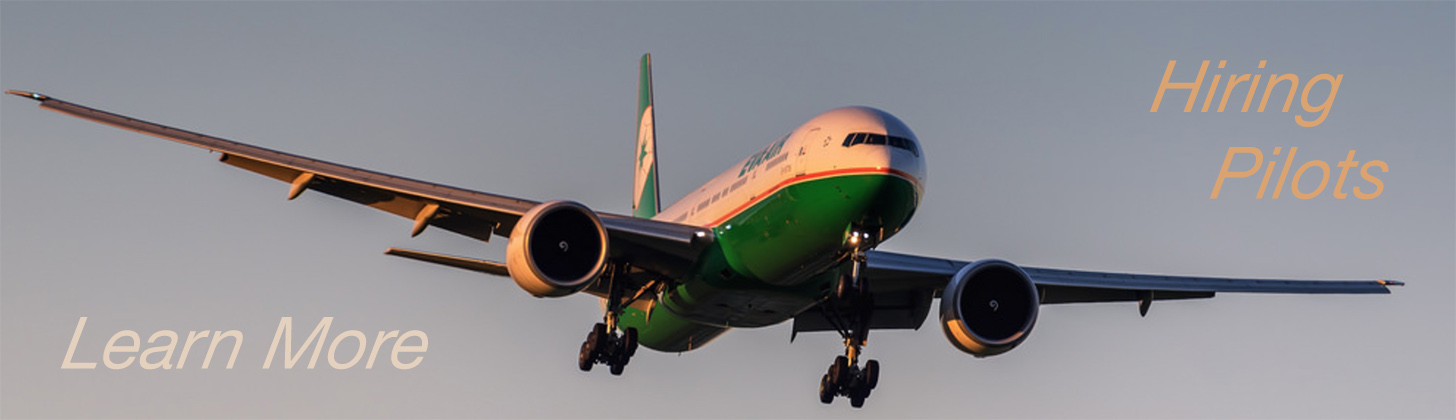 Eva Air B777-300ER Turning onto Final Approach