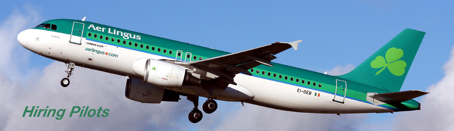 Aer Lingus Airbus A320 on climb out.
