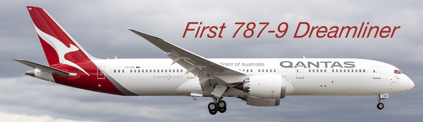 Qantas takes delivery of first Boeing 787-9 Dreamliner