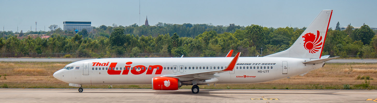 Thai Lion Air Boeing 737-900 taxiing out for departure.