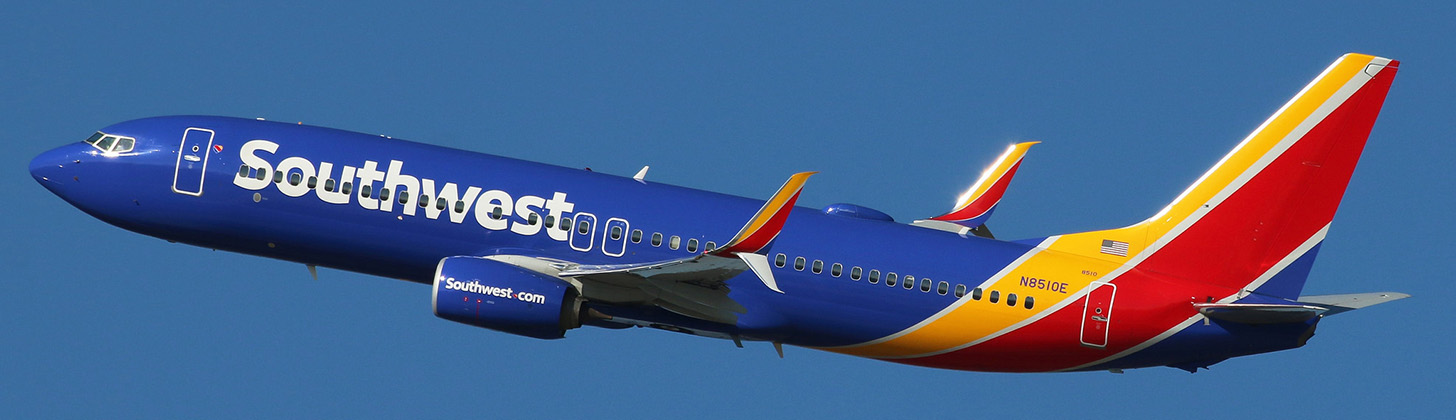 Southwest Airlines Boeing 737-800NG on departure