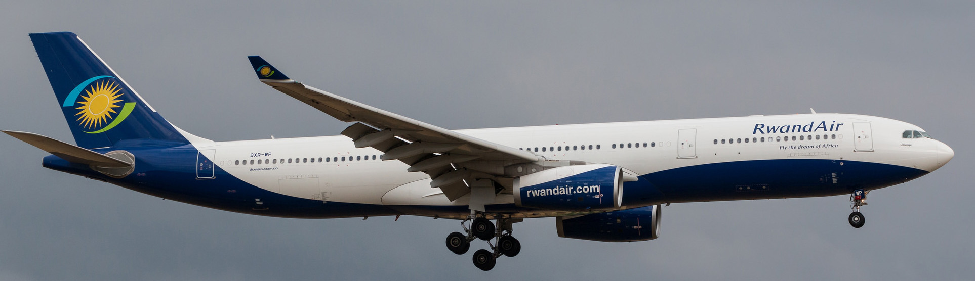 Rwandair Airbus A330-300 on final approach